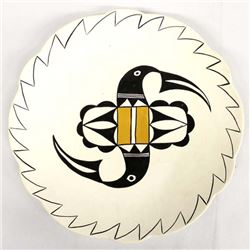 Acoma Hand Painted Ceramic Plate by Pauline Jannie