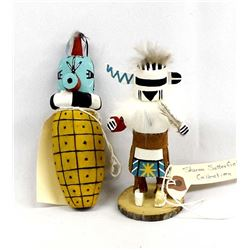 2 Native American Hopi Kachinas