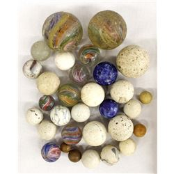 Unusual Old Marbles, Benningtons, Stone, & Glass