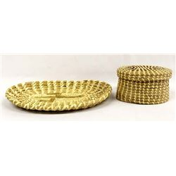 2 Native American Tohono O'odham Baskets