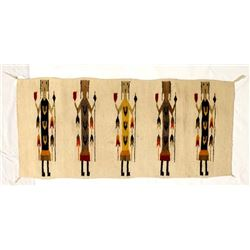 Mexican 5 Yei Wool Textile Rug