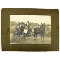 Antique Photo: Ladies in Horse Drawn Buggy