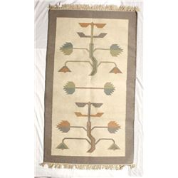 Beautiful Mexican Tree of Life Wool Textile Rug