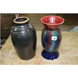Medalta Vase and an Unmarked Vase