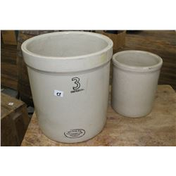 Medalta 3 gal. Crock and a 1 Gallon Crock