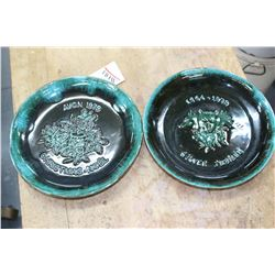 Blue Mountain Pottery Silver Jublilee Plate & an Avon 1979 Christmas Plate