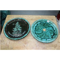Blue Mountain Pottery 1976 Christmas Plate & a 50th Anniv. Sunoco in Canada Plate