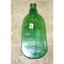 Shilo Glass Flattened Bottle with Cork