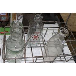 Milk Bottle Carrier with 3 Milk Bottles