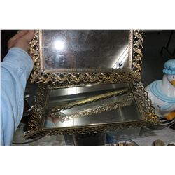 Metal Framed Mirrors (2)
