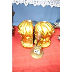 Small Brass Bell and a Pair of Book-ends