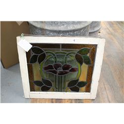 1960 Stained Glass Window -Salvaged from Pacific Apts. Bldg, Kits Beach, Vancouver, B.C.