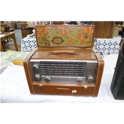 RCA Victor Shortwave Radio - Circa 1960's - In a Genuine Cowhide Case