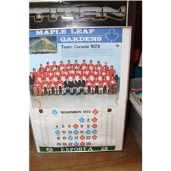 Team Canada 1972 Framed Team Photo