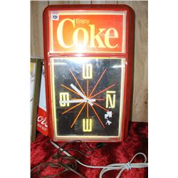 Coke Clock - Lighted