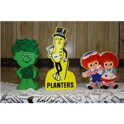 Little Green Giant, Mr. Peanut & Raggedy Ann Radios