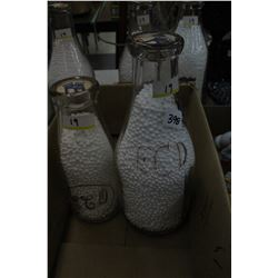 1 Milk & 1 Cream Bottle - Embossed E.C.D.