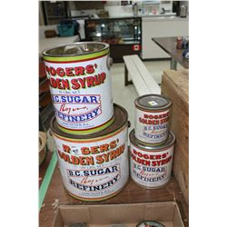 4 Rogers Syrup Collector Tins
