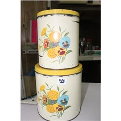 2 - 1950's Kitchen Cannisters