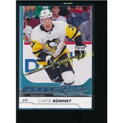 2017-18 Upper Deck #243 Carter Rowney YG RC