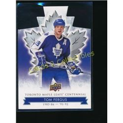 17-18 Toronto Maple Leafs Die Cut #75 Tom Fergus