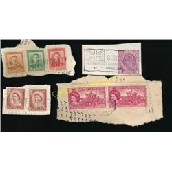 Lot Of Canada & New Zeland King & Queen Stamps