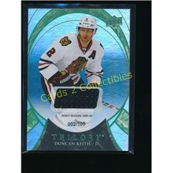 15-16 UD Trilogy Rainbow Green Jsy Duncan Keith