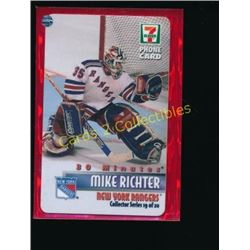 Mike Richter 7-11 Collector Phone Card