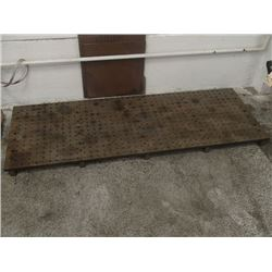 """Steel Drilled and Tapped Right Angle Plate, Overall: 84"""" x 30"""" x 3-1/4"""""""