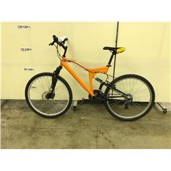 ORANGE SUPERCYCLE ASCENT 24 SPEED FULL SUSPENSION MOUNTAIN BIKE