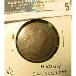 1805 U.S. Large Cent, VG, heavy corrosion.