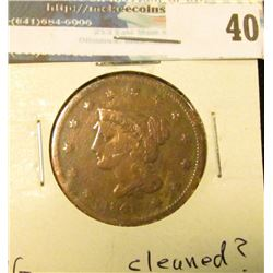 1841 U.S. Large Cent, VG, cleaned?