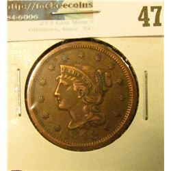 1848 U.S. Large Cent, Very Fine.