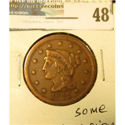 1849 U.S. Large Cent, Fine, some corrosion.
