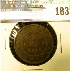 1876H Canada Large Cent. EF.