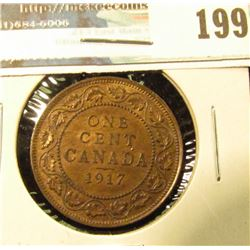 1917 Canada Large Cent. Red-brown Almost Unc.