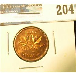 1956 Canada Maple Leaf Cent. Prooflike Red.