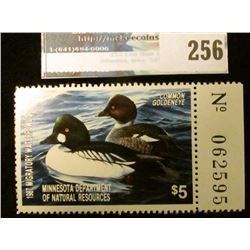 1987 Minnesota Department of Agriculture Migratory Waterfowl Stamp, mint, unsigned, with full tab. N
