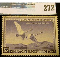 RW17 1950 Federal Migratory Bird Hunting and Conservation Stamp, not signed, no gum.