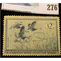 RW22 1955 Federal Migratory Bird Hunting and Conservation Stamp, signed, no gum.
