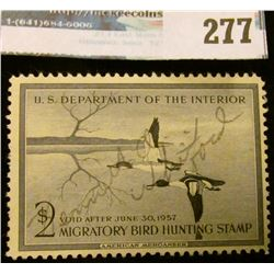 RW23 1956 Federal Migratory Bird Hunting and Conservation Stamp, signed, no gum.