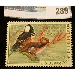 RW35 1968 Federal Migratory Bird Hunting and Conservation Stamp, signed, no gum.
