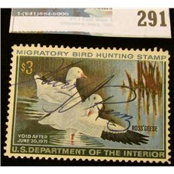 RW37 1970 Federal Migratory Bird Hunting and Conservation Stamp,full gum.