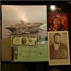 """Series 1953 $2 United States """"Red Seal"""" Note; Duplicate issued check """"The English Scottish & Austral"""