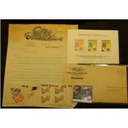 """1902 letter on letter head """"The Standard Harrow Co. Utica, N.Y.; (4) different Nazi Germany Stamps d"""
