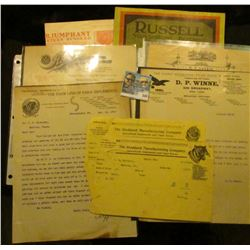 """""""Deering Harvester Company"""" Advertising; (9) Early 1900 era Agricultural related invoices; & a early"""