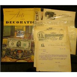 "November 1934 ""Arts and Decoration"" Magazine in large format, which originally sold for 35c; two dif"