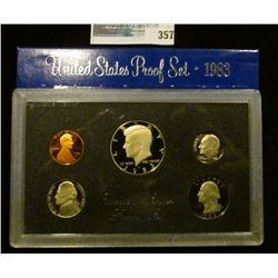 1983 S U.S. Cameo Frosted Proof Set in original box as issued.