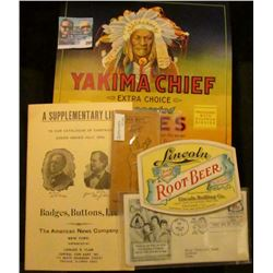 """Yakima Chief Extra Choice Evaporated Apples...Yakima, Washington, U.S.A.""; Pair of ""First Day of Is"
