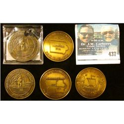 1976 Bicentennial Medals: Scandinavian Dollar Story City; Alexander, Ia.; Muscatine, Ia.; Colo, Ia.;